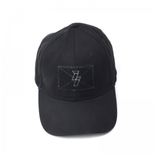 II Black Military Style Patch Hat-M/L